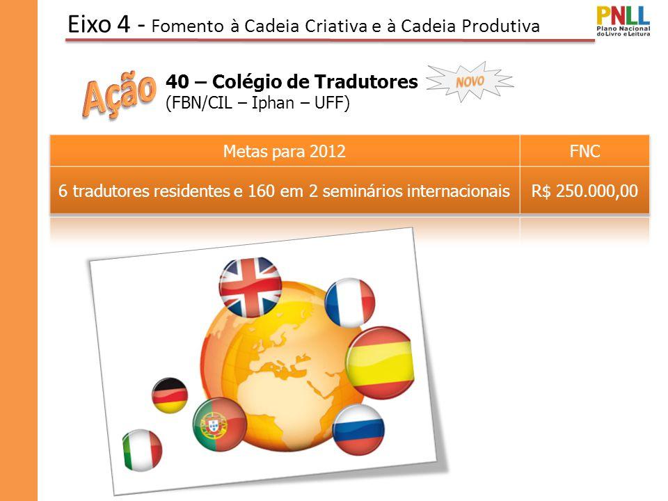 Eixo 4 - Fomento à Cadeia Criativa e à Cadeia Produtiva 40 – Colégio de Tradutores (FBN/CIL – Iphan – UFF)