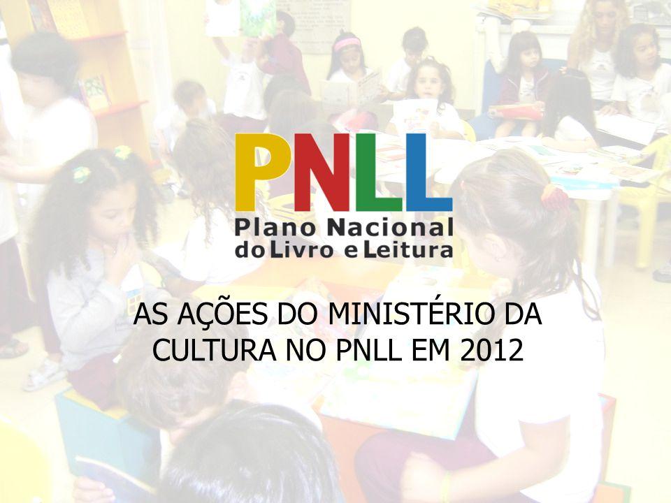 AS AÇÕES DO MINISTÉRIO DA CULTURA NO PNLL EM 2012