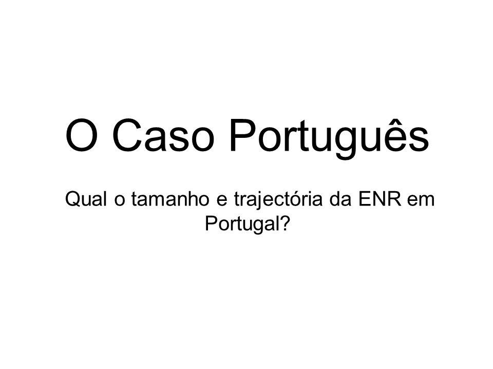 O Caso Português Qual o tamanho e trajectória da ENR em Portugal