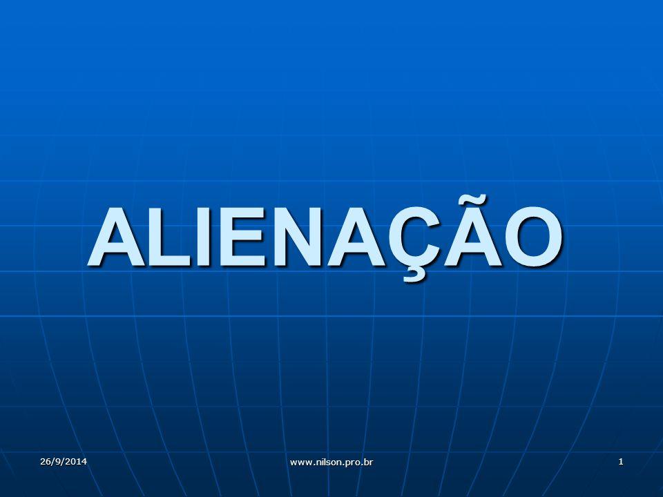ALIENAÇÃO 26/9/20141 www.nilson.pro.br