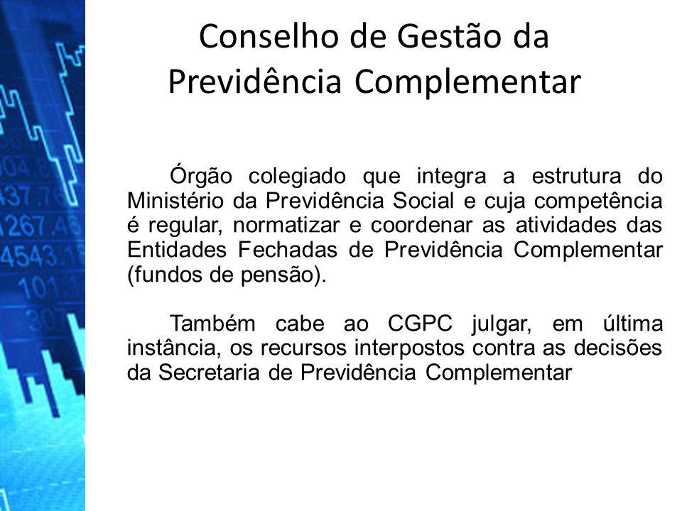 Órgão colegiado que integra a estrutura do Ministério da Previdência Social e cuja competência é regular, normatizar e coordenar as atividades das Ent