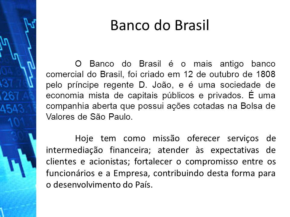 O Banco do Brasil é o mais antigo banco comercial do Brasil, foi criado em 12 de outubro de 1808 pelo príncipe regente D. João, e é uma sociedade de e