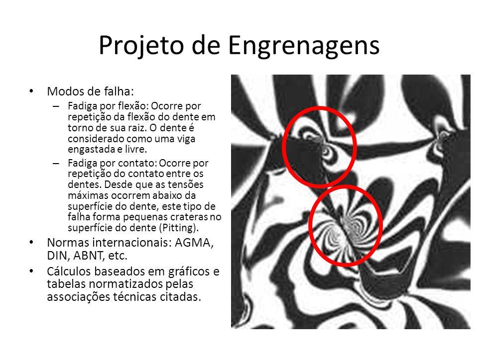Projeto de Engrenagens Flexão Formulação de Lewis