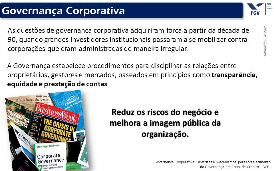 - 10 - Elaboração: GV Agro Governança Corporativa As questões de governança corporativa adquiriram força a partir da década de 90, quando grandes inve