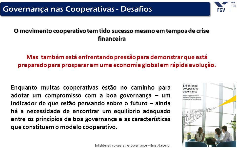 - 13 - O movimento cooperativo tem tido sucesso mesmo em tempos de crise financeira Governança nas Cooperativas - Desafios Mas também está enfrentando