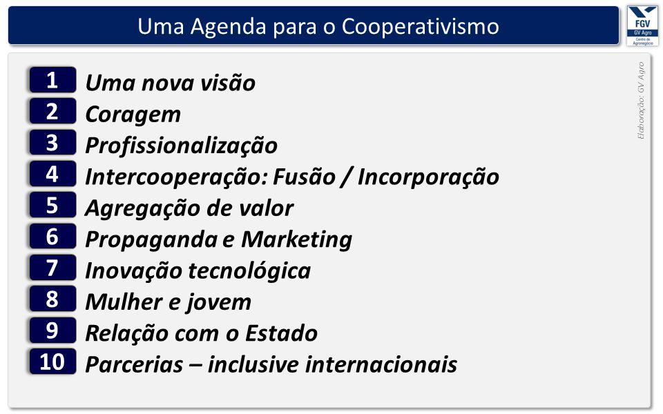 - 20 - Elaboração: GV Agro Uma Agenda para o Cooperativismo Uma nova visão 11 Profissionalização 33 Intercooperação: Fusão / Incorporação 44 Agregação