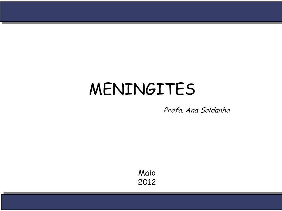 MENINGITES Maio 2012 Profa. Ana Saldanha