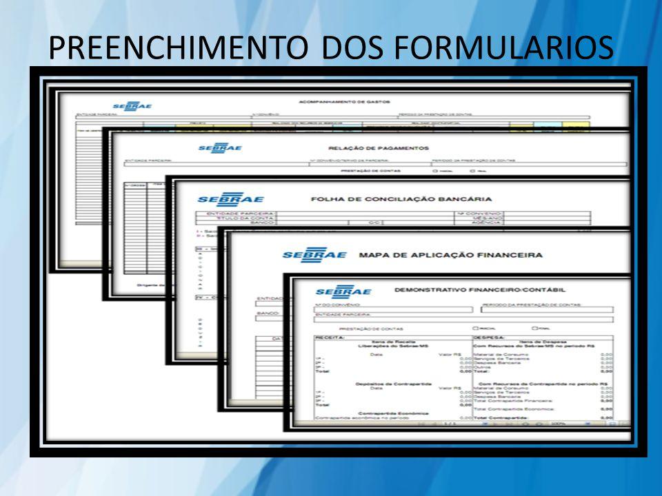 PREENCHIMENTO DOS FORMULARIOS