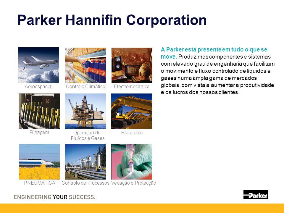 Parker Hannifin Corporation A Parker está presente em tudo o que se move. Produzimos componentes e sistemas com elevado grau de engenharia que facilit