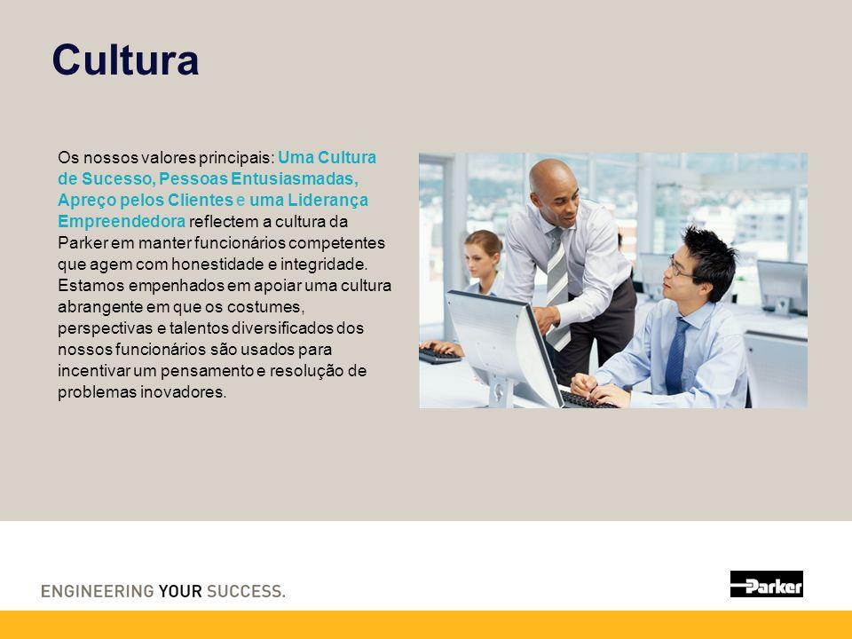 Cultura Os nossos valores principais: Uma Cultura de Sucesso, Pessoas Entusiasmadas, Apreço pelos Clientes e uma Liderança Empreendedora reflectem a cultura da Parker em manter funcionários competentes que agem com honestidade e integridade.