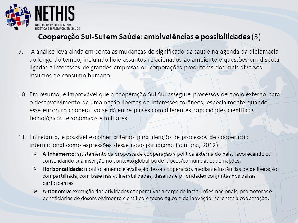 Cooperação Sul-Sul em Saúde: ambivalências e possibilidades (3) 9.