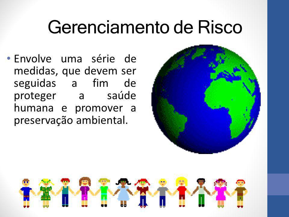 Gerenciamento de Risco Envolve uma série de medidas, que devem ser seguidas a fim de proteger a saúde humana e promover a preservação ambiental.