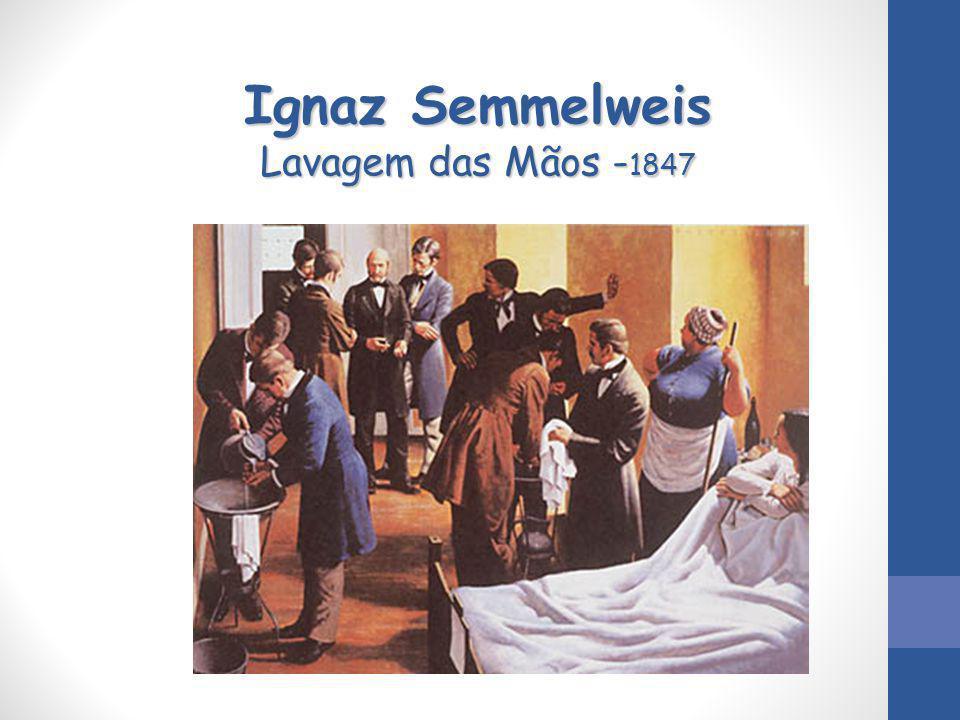 Ignaz Semmelweis Lavagem das Mãos - 1847