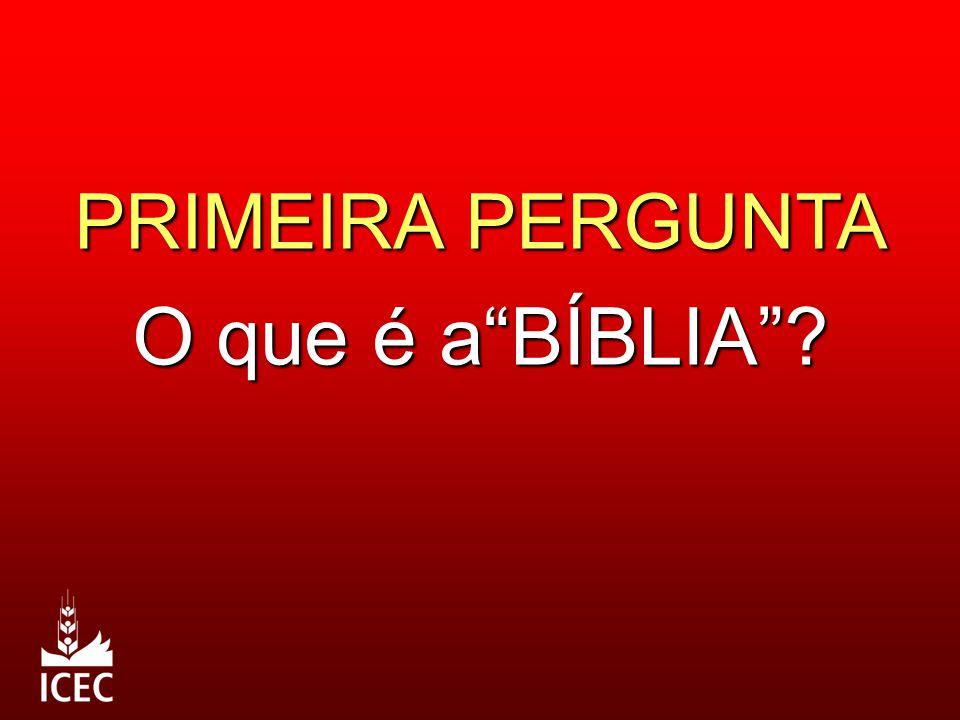 """PRIMEIRA PERGUNTA O que é a""""BÍBLIA""""?"""