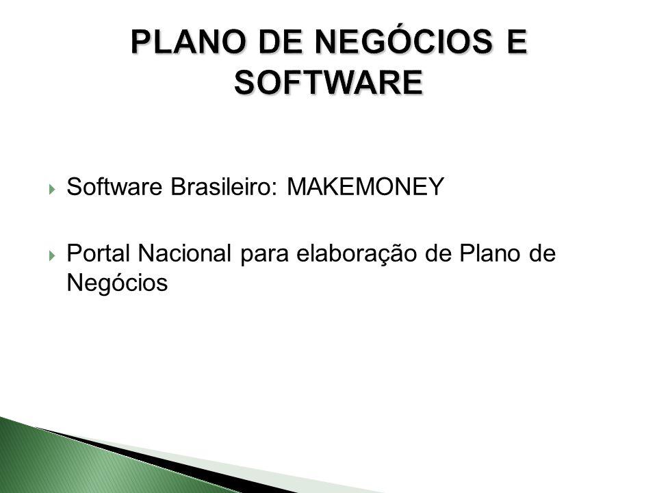  Software Brasileiro: MAKEMONEY  Portal Nacional para elaboração de Plano de Negócios PLANO DE NEGÓCIOS E SOFTWARE