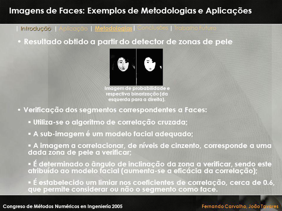 Imagens de Faces: Exemplos de Metodologias e Aplicações Congreso de Métodos Numéricos en Ingeniería 2005 Fernando Carvalho, João Tavares Imagem de pro