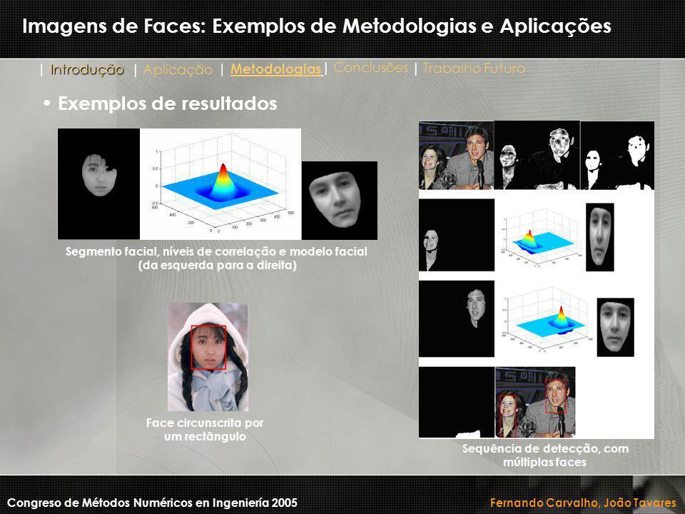 Imagens de Faces: Exemplos de Metodologias e Aplicações Congreso de Métodos Numéricos en Ingeniería 2005 Fernando Carvalho, João Tavares Segmento faci