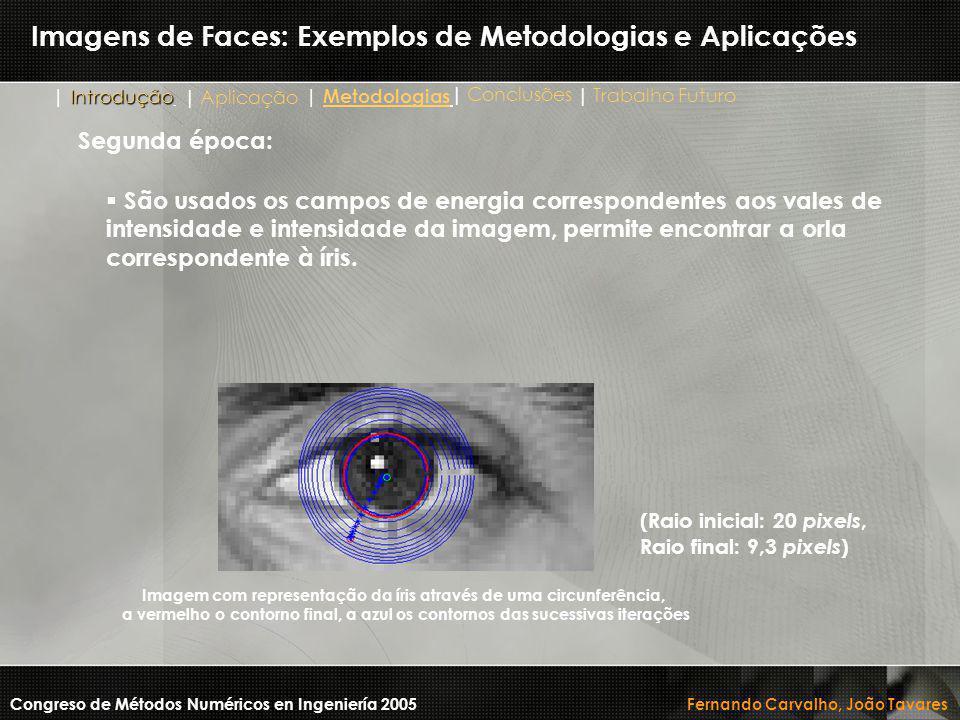 Imagens de Faces: Exemplos de Metodologias e Aplicações Congreso de Métodos Numéricos en Ingeniería 2005 Fernando Carvalho, João Tavares Imagem com re
