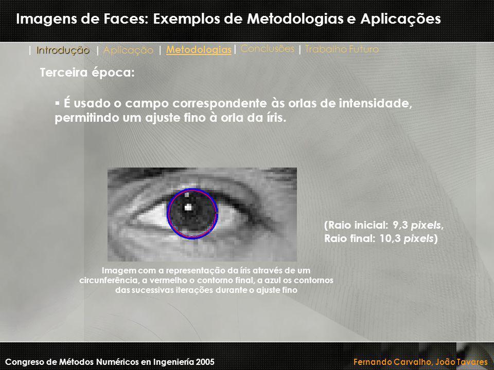 Imagens de Faces: Exemplos de Metodologias e Aplicações Congreso de Métodos Numéricos en Ingeniería 2005 Fernando Carvalho, João Tavares Imagem com a