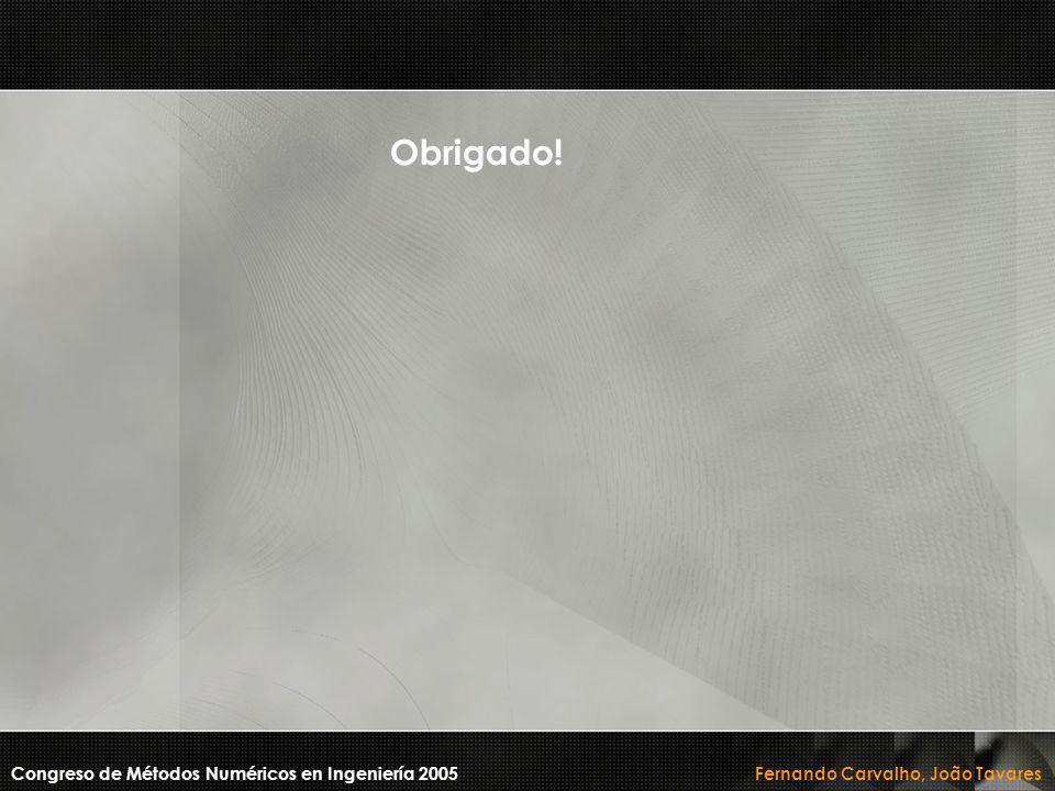 Obrigado! Congreso de Métodos Numéricos en Ingeniería 2005 Fernando Carvalho, João Tavares
