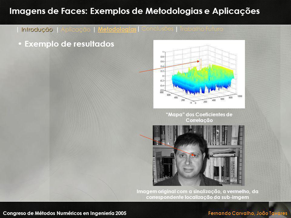 Imagens de Faces: Exemplos de Metodologias e Aplicações Congreso de Métodos Numéricos en Ingeniería 2005 Fernando Carvalho, João Tavares Imagem origin