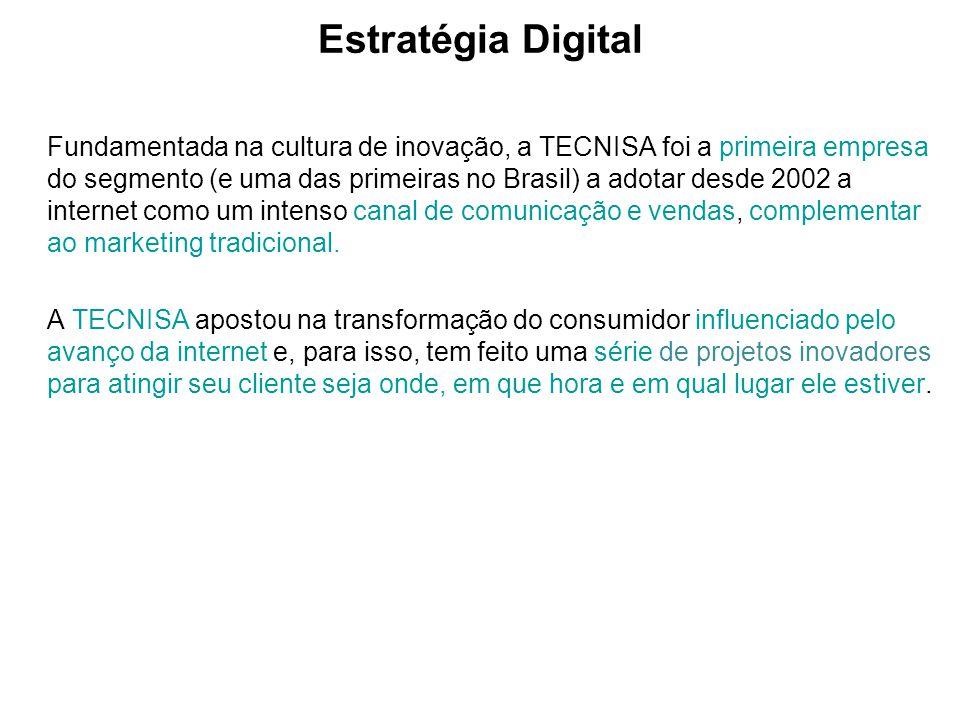 Estratégia Digital Fundamentada na cultura de inovação, a TECNISA foi a primeira empresa do segmento (e uma das primeiras no Brasil) a adotar desde 20