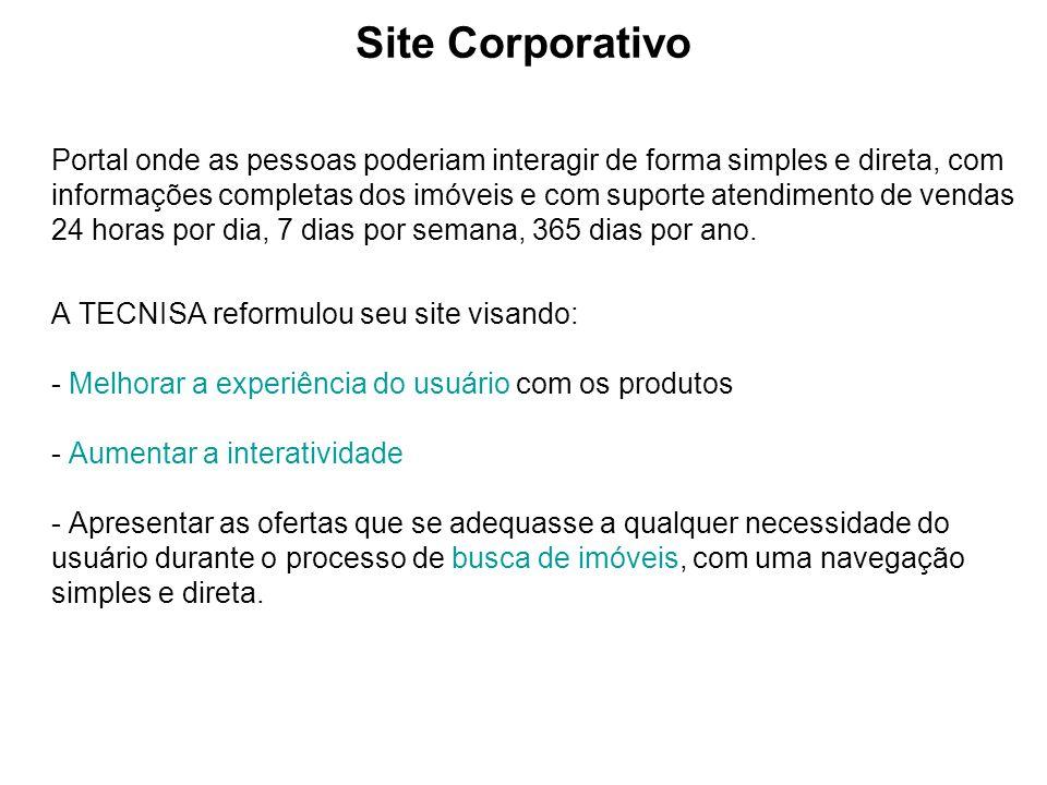 Site Corporativo Portal onde as pessoas poderiam interagir de forma simples e direta, com informações completas dos imóveis e com suporte atendimento