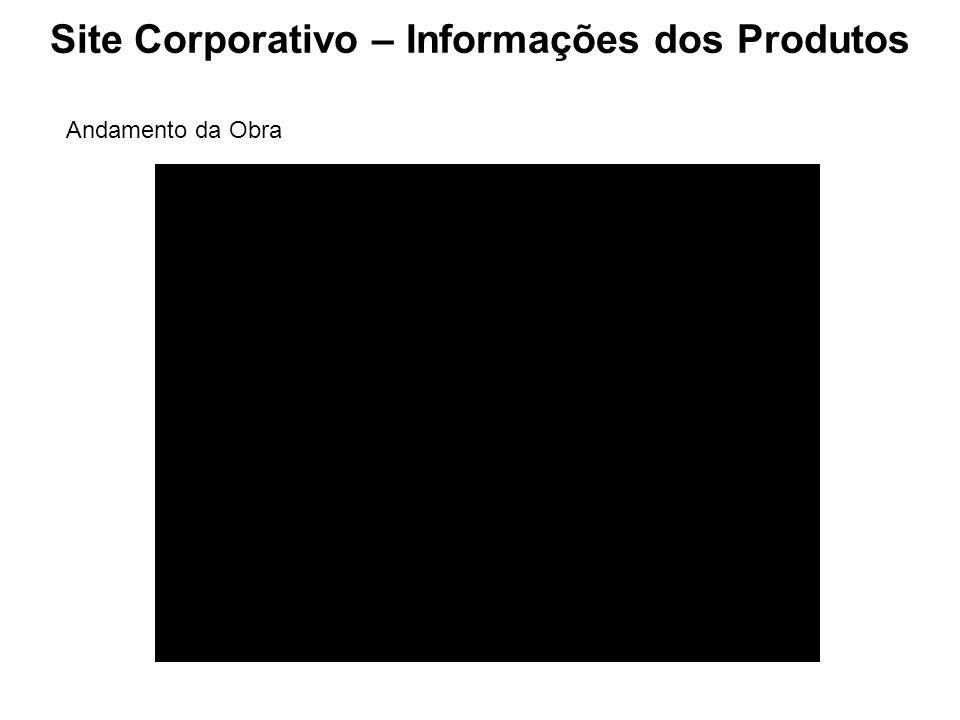 Site Corporativo – Informações dos Produtos Andamento da Obra