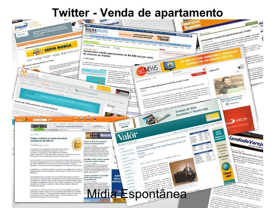 Twitter - Venda de apartamento Mídia Espontânea