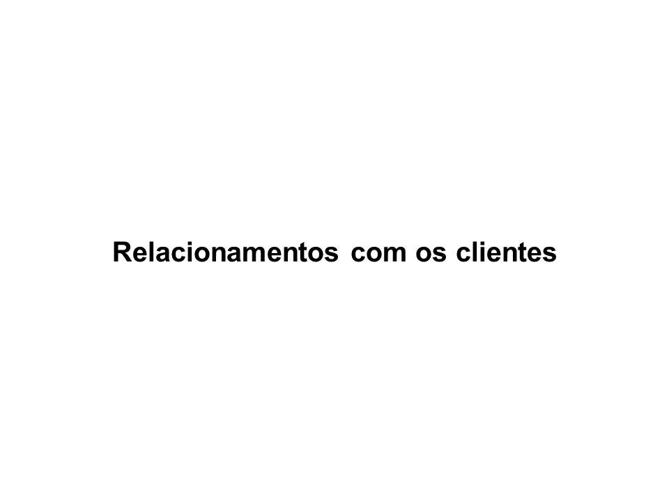 Relacionamentos com os clientes