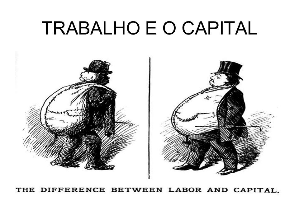 TRABALHO E O CAPITAL