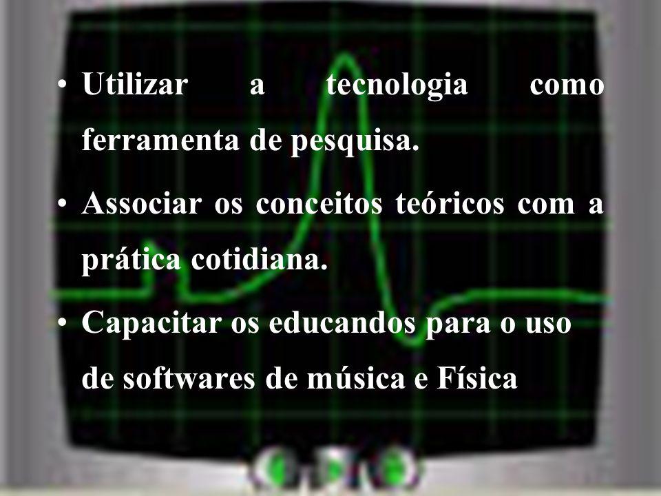 Utilizar a tecnologia como ferramenta de pesquisa.