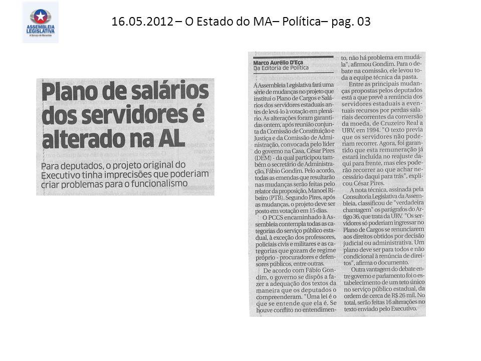 16.05.2012– Jornal Pequeno – Atos, fatos e Baratos – pag. 02