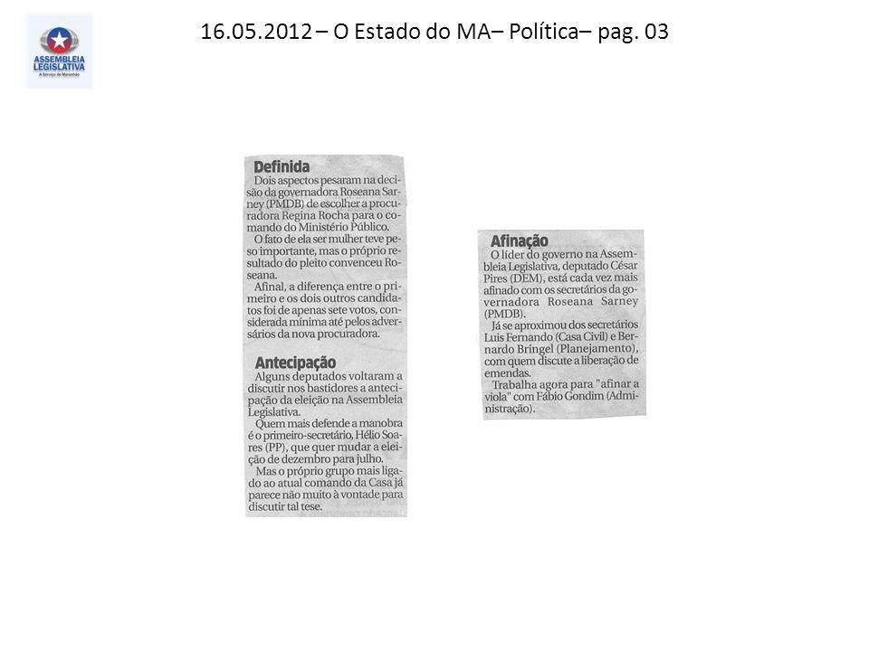 16.05.2012 – O Estado do MA e O Imparcial