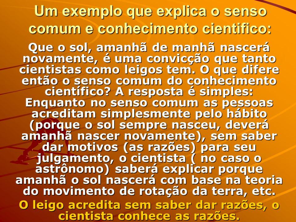 COMUM X CIENTÍFICO A CIÊNCIA NÃO É O ÚNICO CAMINHO PARA A VERDADE.