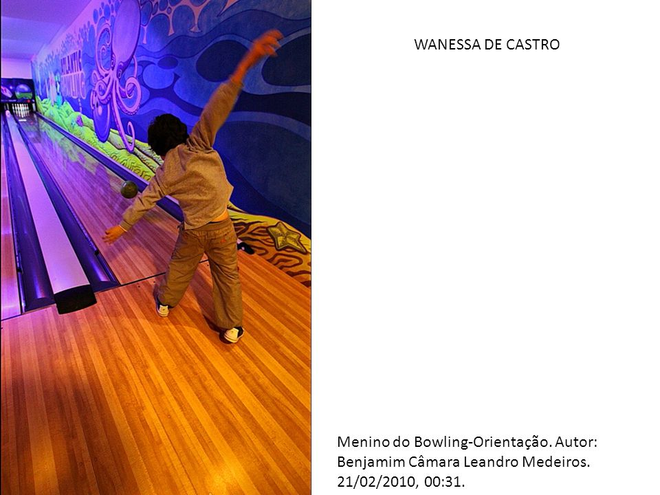 Menino do Bowling-Orientação. Autor: Benjamim Câmara Leandro Medeiros. 21/02/2010, 00:31. WANESSA DE CASTRO