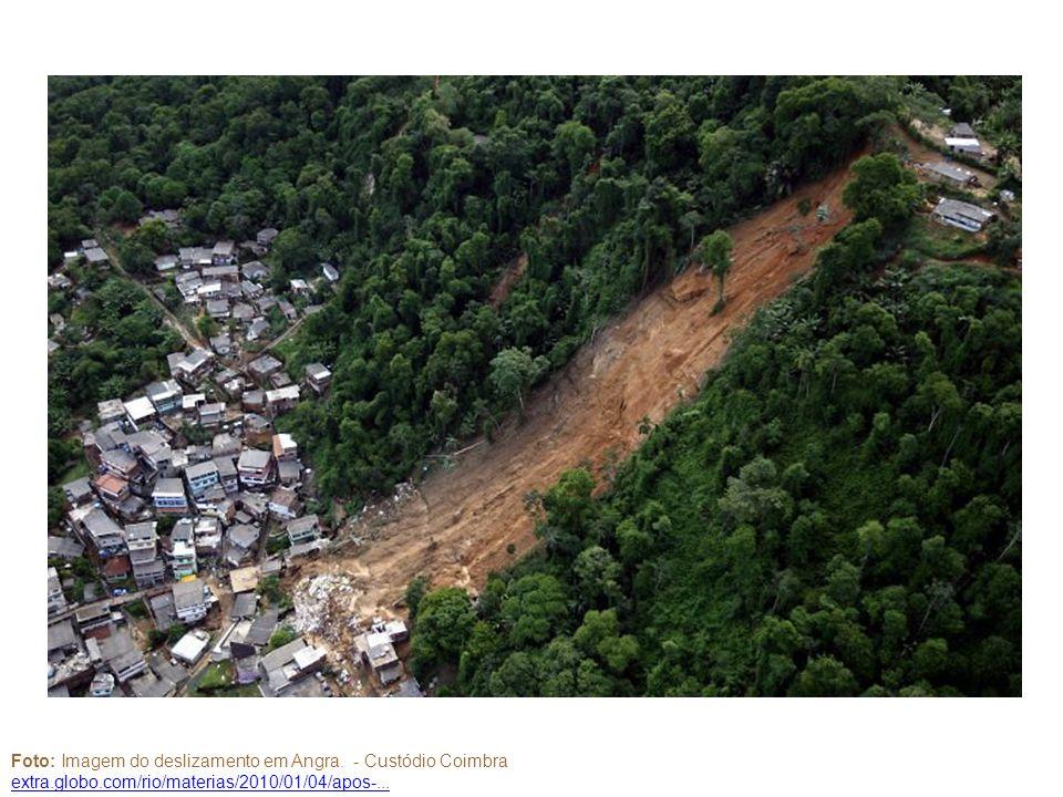 Foto: Imagem do deslizamento em Angra. - Custódio Coimbra extra.globo.com/rio/materias/2010/01/04/apos-...