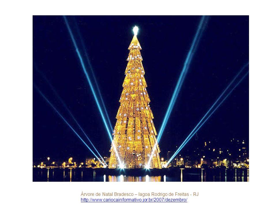 Árvore de Natal Bradesco – lagoa Rodrigo de Freitas - RJ http://www.cariocainformativo.jor.br/2007/dezembro/