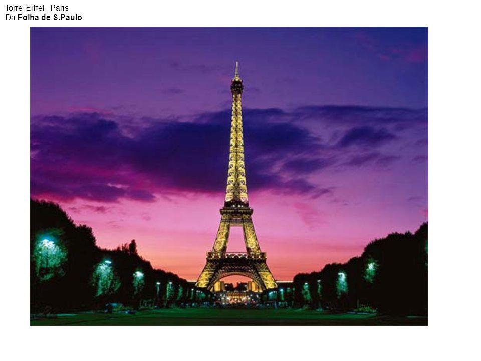 Torre Eiffel - Paris Da Folha de S.Paulo
