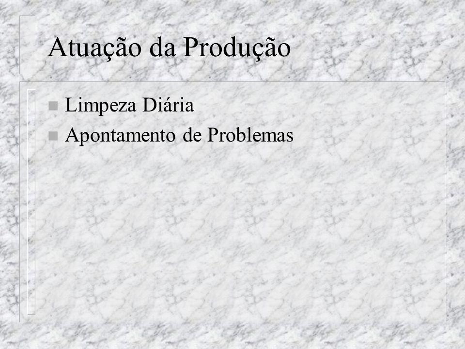 Atuação da Produção n Limpeza Diária n Apontamento de Problemas
