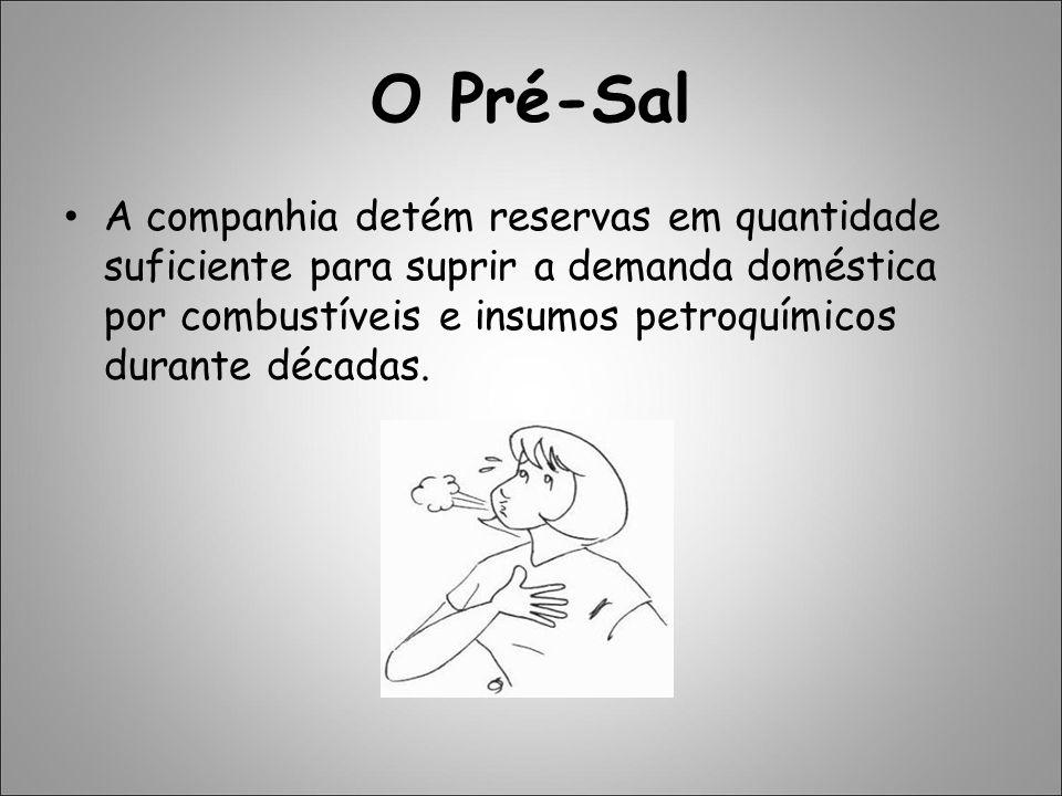 O Pré-Sal A companhia detém reservas em quantidade suficiente para suprir a demanda doméstica por combustíveis e insumos petroquímicos durante décadas