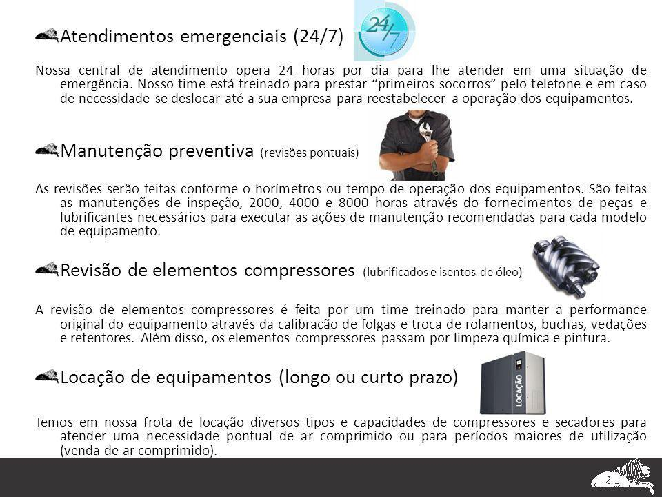 Atendimentos emergenciais (24/7) Nossa central de atendimento opera 24 horas por dia para lhe atender em uma situação de emergência. Nosso time está t