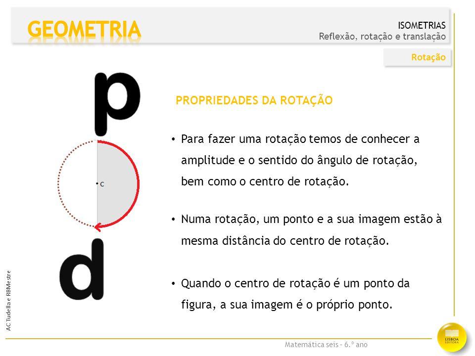 Matemática seis – 6.º ano O Rudolfo disse que construiu a imagem de um ângulo reto por reflexão numa reta e obteve um ângulo agudo.