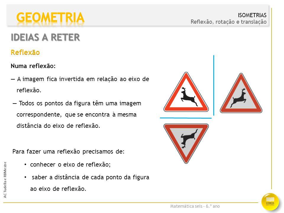 Matemática seis – 6.º ano AC Tudella e RBMestre IDEIAS A RETER C