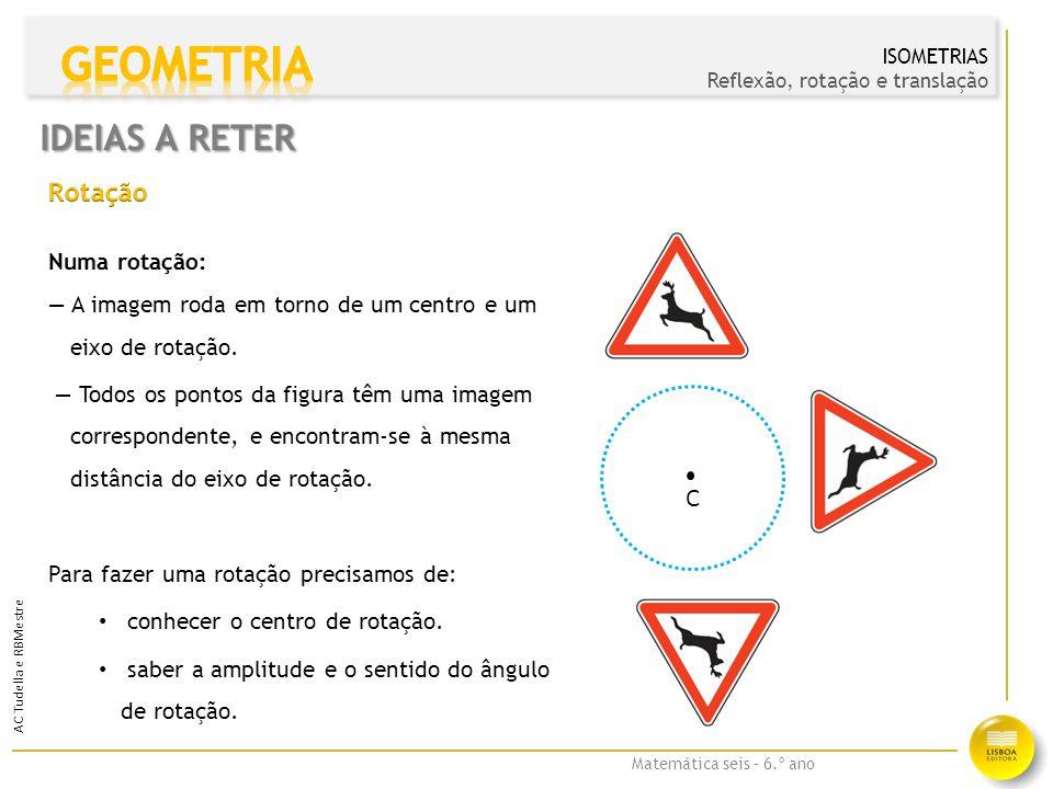 Matemática seis – 6.º ano AC Tudella e RBMestre IDEIAS A RETER