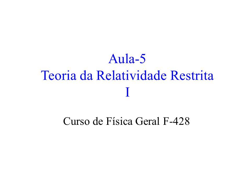 Aula-5 Teoria da Relatividade Restrita I Curso de Física Geral F-428