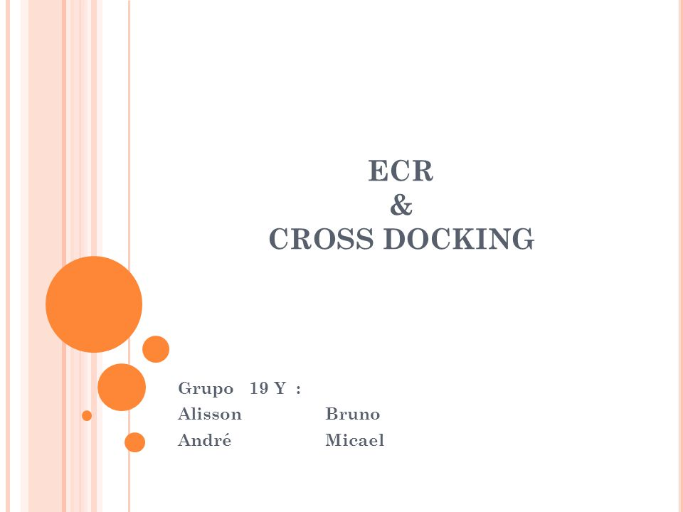 ECR & CROSS DOCKING Grupo 19 Y : Alisson Bruno André Micael