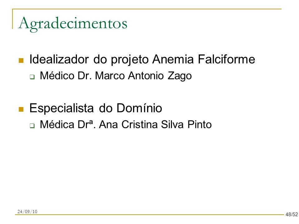 Agradecimentos Idealizador do projeto Anemia Falciforme  Médico Dr.