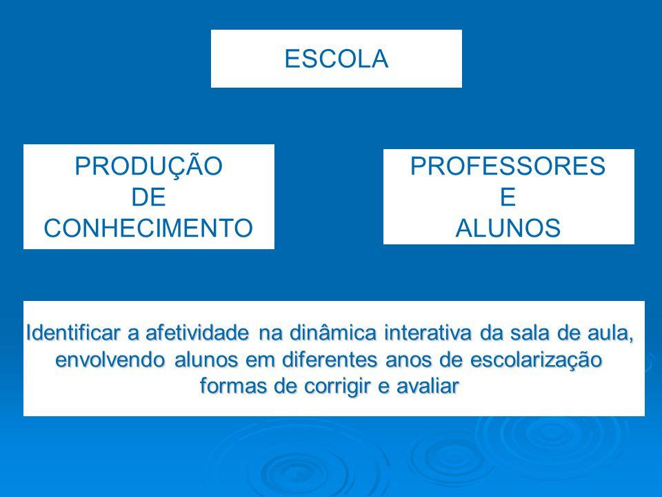 Percurso metodológico  Autoscopia  Escola escolhida intencionalmente  Alunos dos últimos anos de cada nível de ensino  Respectivos professores