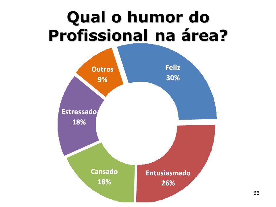 36 Qual o humor do Profissional na área?